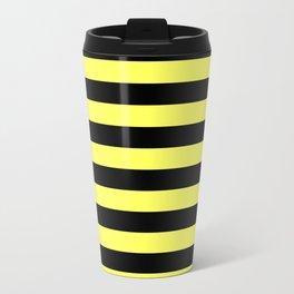 Stripes (Black & Yellow Pattern) Travel Mug