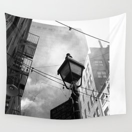 New York Street Life Wall Tapestry