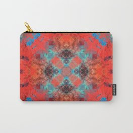 Southwestern Decor Turquoise and Orange Pattern Design Carry-All Pouch