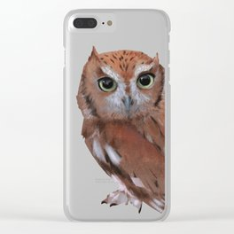 Owl 03 Clear iPhone Case