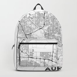 Minimal City Maps - Map Of Aurora, Colorado, United States Backpack