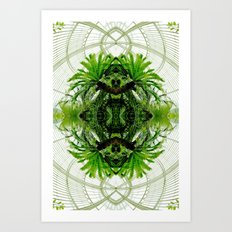 Botanical Mirror Art Print