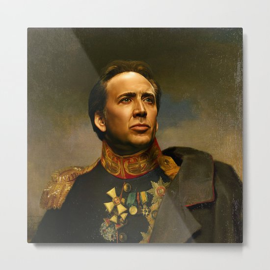 Nicolas Cage - replaceface Metal Print