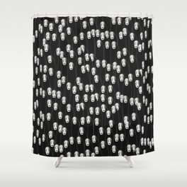 No face crowd Shower Curtain