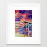 lonely Framed Art Prints featuring Lonely by Erin Keating