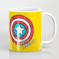 shield Mugs featuring Shield by Chelsea Herrick