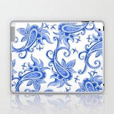 Paisley: Blue China Combo Laptop & iPad Skin