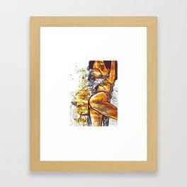 Golden goddess II Framed Art Print