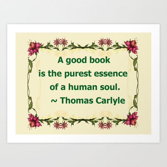 A Good Book - Thomas Carlyle Art Print