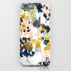 Sloane - Abstract painting in modern fresh colors navy, mint, blush, cream, white, and gold iPhone 6 Slim Case