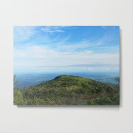 Mountain and blue sky Metal Print