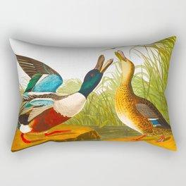 Shoveller Duck Rectangular Pillow