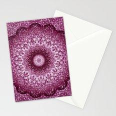 Cabernet Lace Mandala Stationery Cards