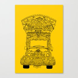 Pakistani Truck. (Yellow) Canvas Print