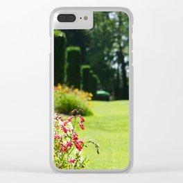 Summer Garden Clear iPhone Case