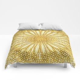 Dotted sunshine mandala Comforters