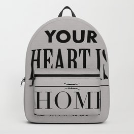 Home Heart grey - Typography Backpack