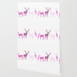 oh deer pink II Wallpaper