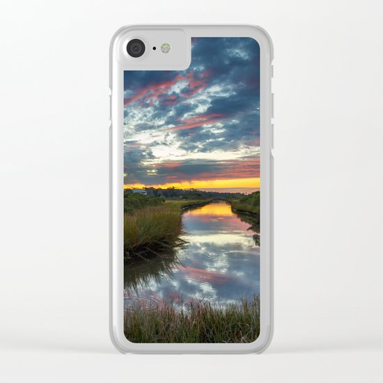 Mississippi Coastal Sunrise Clear iPhone Case
