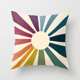 Retro Blossom Throw Pillow