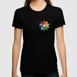 Flower pattern based on James Ward's Chromatic Circle (vintage wash) T-shirt