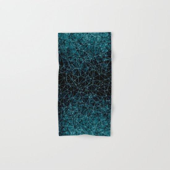 Polygonal blue and black Hand & Bath Towel