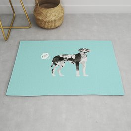great dane funny farting dog breed gifts Rug