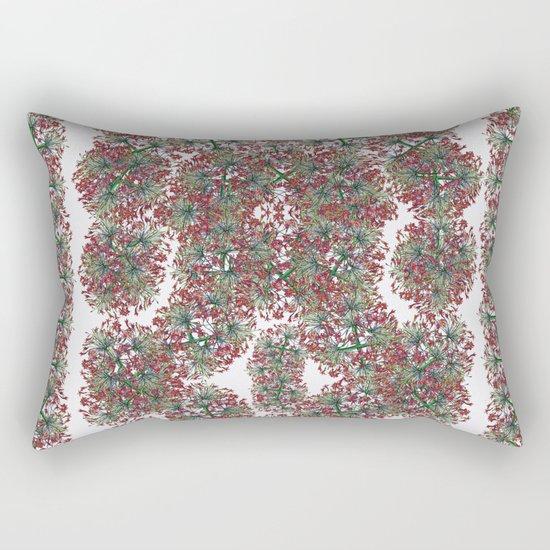 Border gardens of the mind Rectangular Pillow