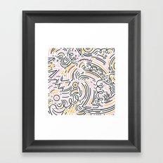 squiggle wiggles Framed Art Print