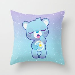 Bedtime bear Throw Pillow