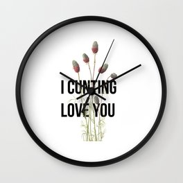 C**nting Love You Wall Clock