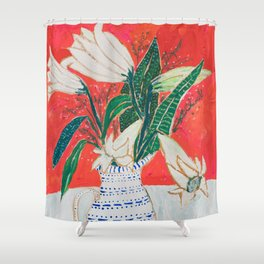 Easter Lily Bouquet Shower Curtain