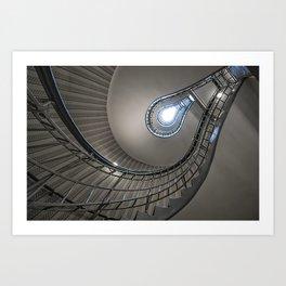 Lightbulb staircase Art Print