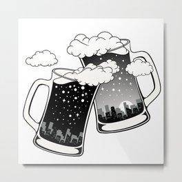 Cheers! Metal Print
