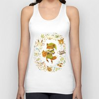 kids Tank Tops featuring The Legend of Zelda: Mammal's Mask by Teagan White