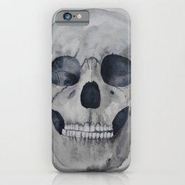 Human skull watercolour iPhone Case