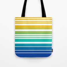 Bay Ombre Stripe: Sunrise Tote Bag