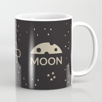 aviation Mugs featuring Aviation: Earth to Moon by Gemaniq