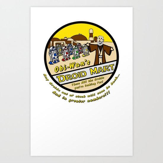 Obi-Wan's Droid Mart Art Print