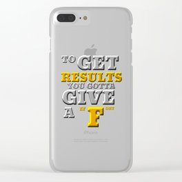 GIVE A F Clear iPhone Case
