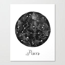 Pisces Constellation Canvas Print