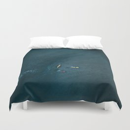 Surfers from Above Duvet Cover