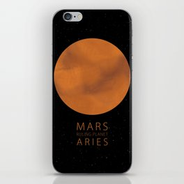 Aries - Ruling Planet Mars iPhone Skin