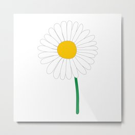Daisy Illustration Metal Print