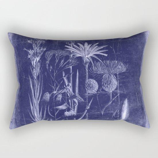 floral cyanotype Rectangular Pillow