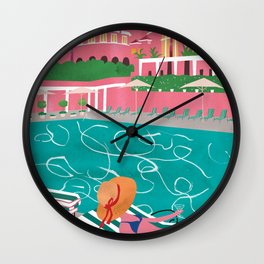 Summer day Wall Clock