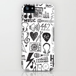 Music Doodles iPhone Case