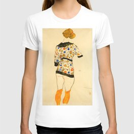 """Egon Schiele """"Standing Woman in a Patterned Blouse"""" T-shirt"""