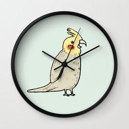 Happy Cockatiel Wall Clock