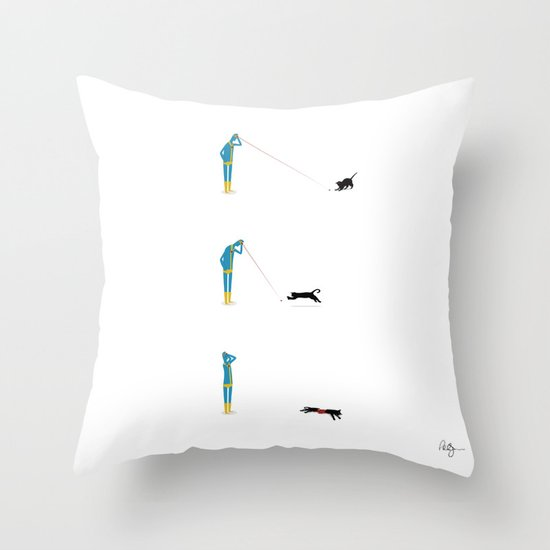 Cyclops' Cat Throw Pillow